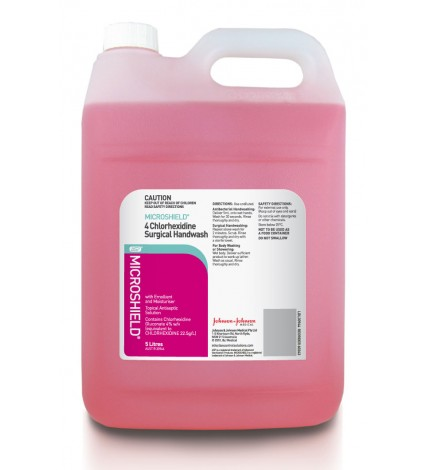 Surgical Handwash 4% Chlorhexidine - Microshield (5 Ltr Bottle)