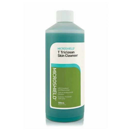 Triclosan Skin Cleanser (500ml bottle - No pump) - Microshield