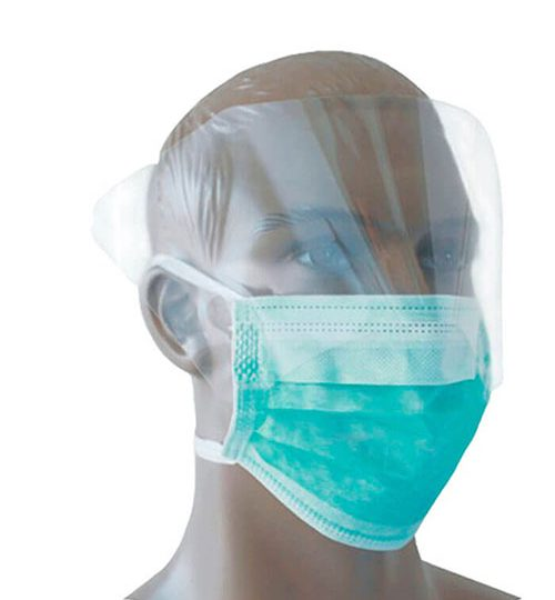 Face Mask with Visor-Tie on #25pcs/pkt