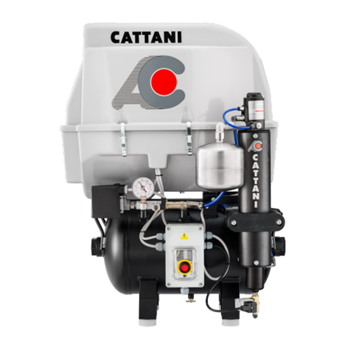 Cattani AC 100 - Single Cylinder With Acoustic Hood & Pre Filter For Humid Conditions