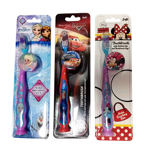 Kids Toothbrush Characters with Suction Cup