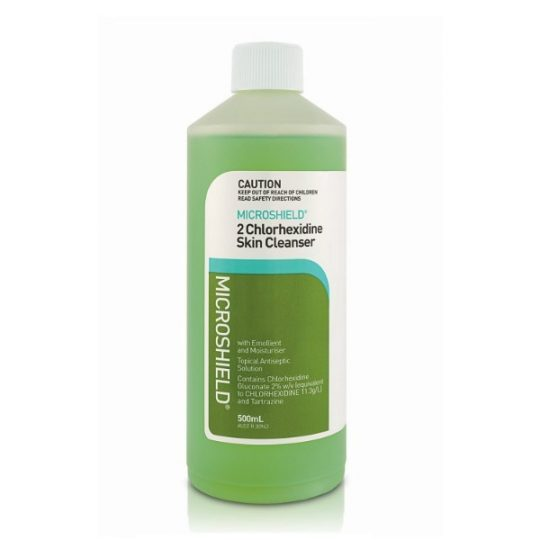 2% Chlorhexidine Skin Cleanser (500ml Bottle - no pump) - Microshield